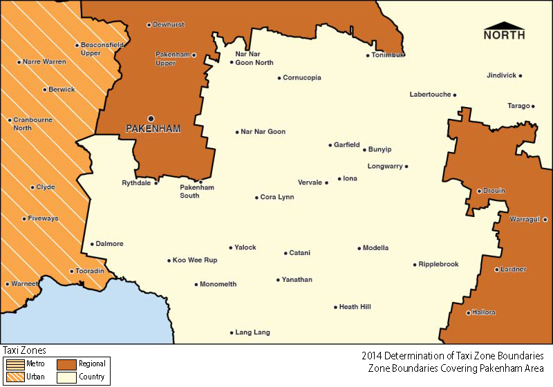 Regional Zone Map - Pakenham