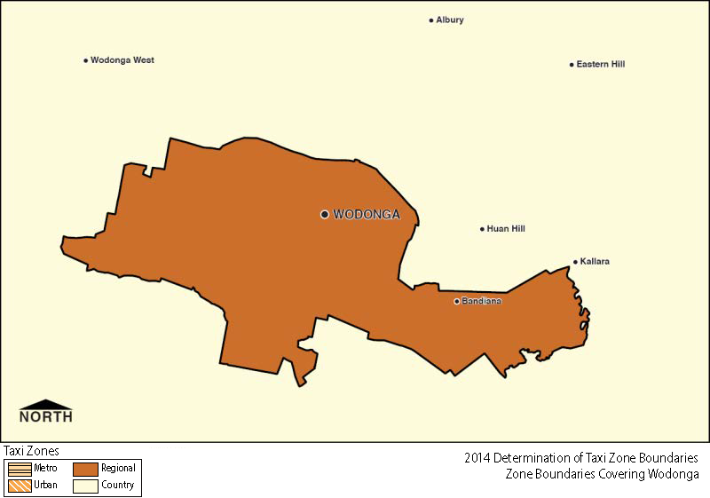 Regional Zone Map - Wodonga