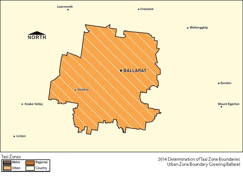 Urban Zone Map - Ballarat