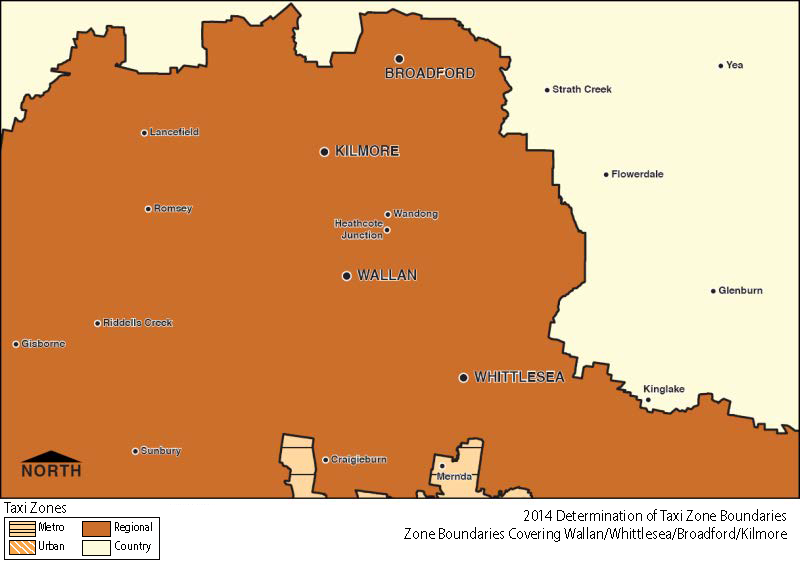 Regional Zone Map - Wallan-Whittlesea-Broadford-Kilmore