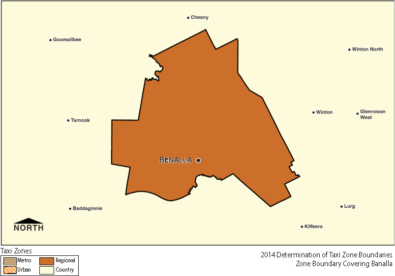 Regional Zone Map - Benalla