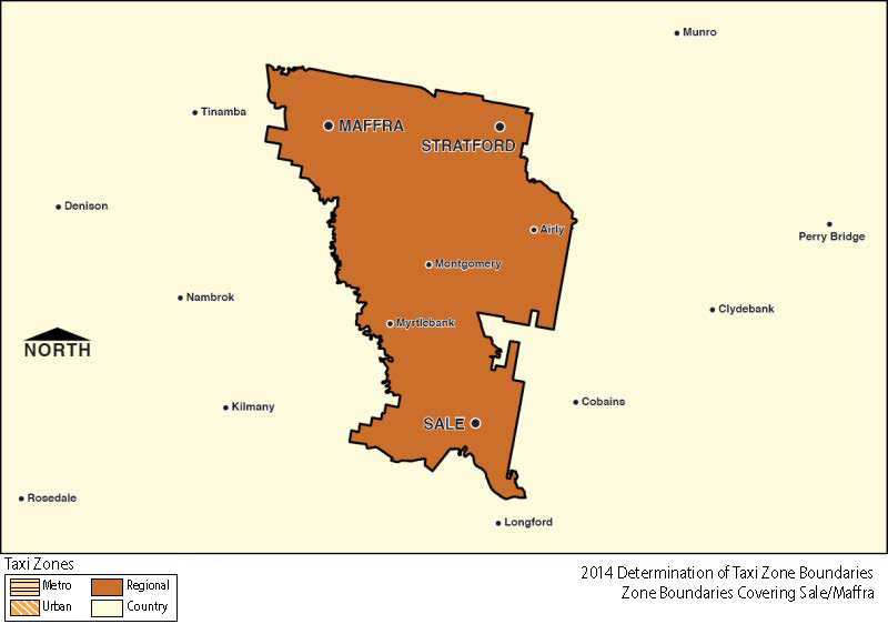 Regional Zone Map - Sale & Maffra