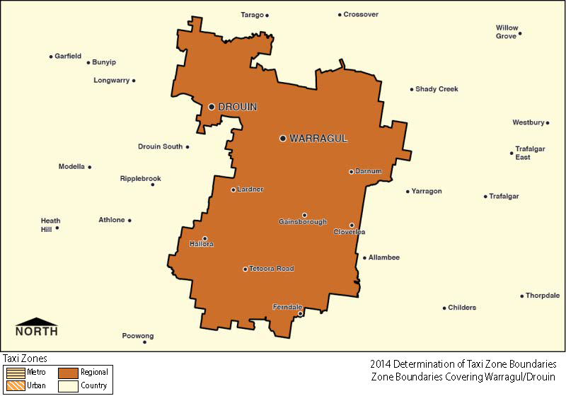 Regional Zone Map - Warragul-Drouin