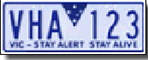 VHA example registration plate
