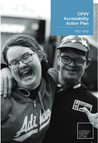 Linked image of front cover CPVV Accessibility Action PLan