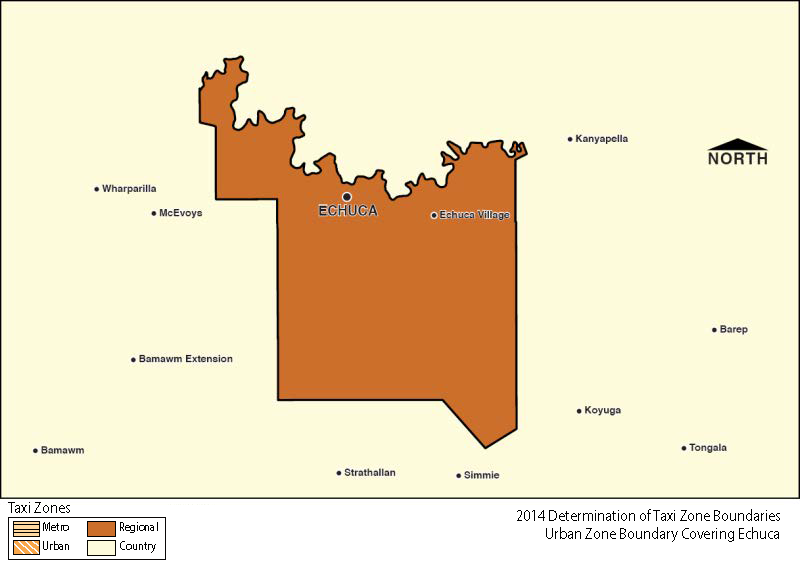 Regional Zone Map - Echuca