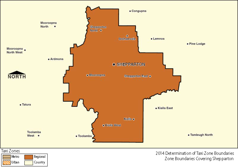 Regional Zone Map - Shepparton