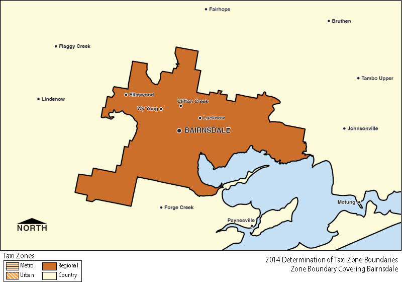 Regional Zone Map - Bairnsdale